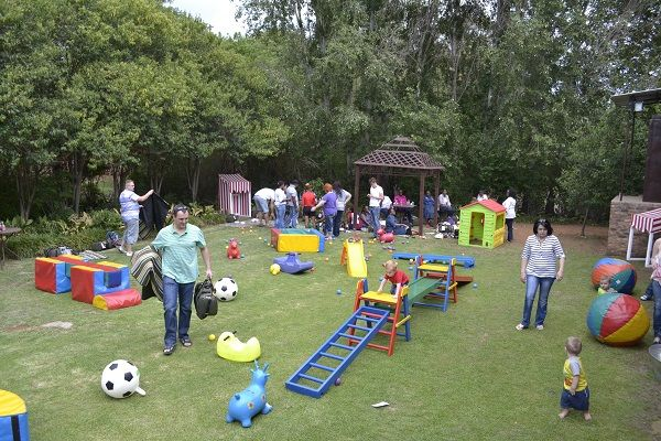 Having fun outside with childrens party