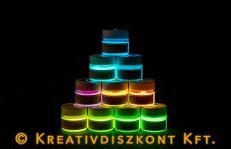 Foszforeszkáló, sötétben világító akrilfesték, 10 szín 30 g, neonzöld