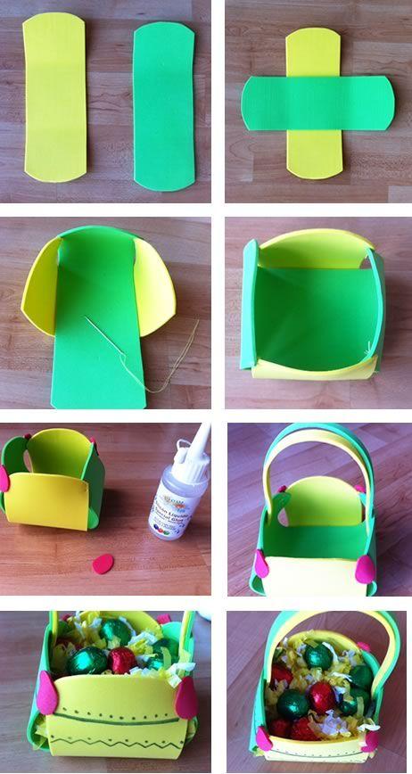 Easter Foamy Basket -- Canasto para Pascua con goma eva.