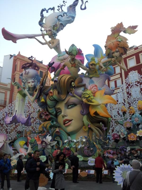 Valencia the fallas festival every year in march with huge sculptures the size of houses.  Viva Valencia!