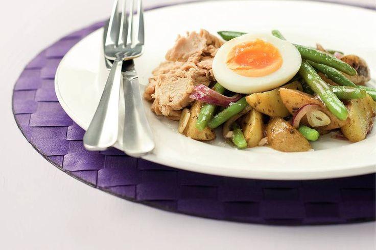 Kijk wat een lekker recept ik heb gevonden op Allerhande! Lauwwarme Franse tonijnsalade
