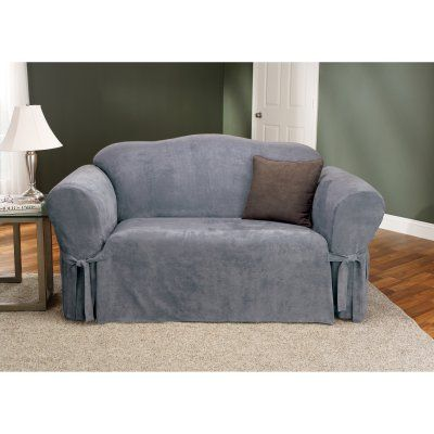 Sure Fit Soft Suede Sofa Slipcover   26186