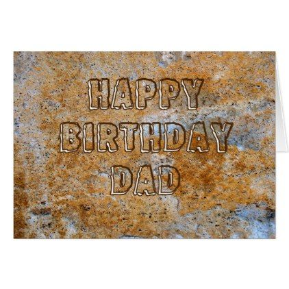 #Stone Age Happy Birthday Dad Card - #birthday #gifts #giftideas #present #party