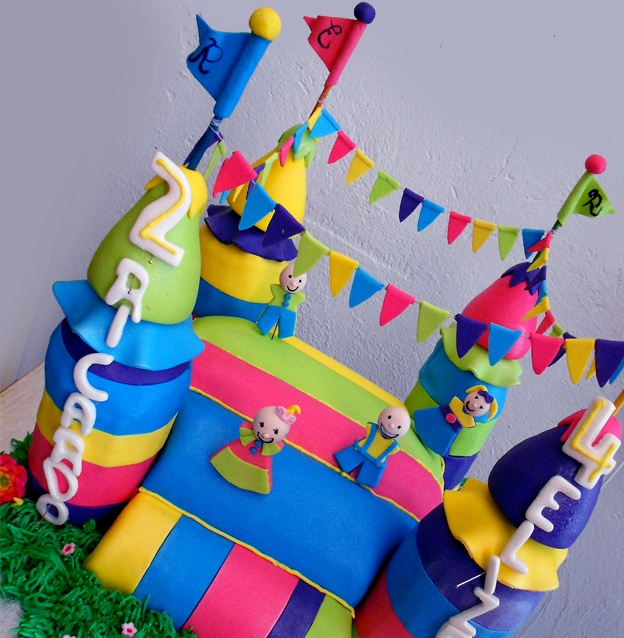 Pooh Party Happy Birtrhday Cake Bounce House Party Images
