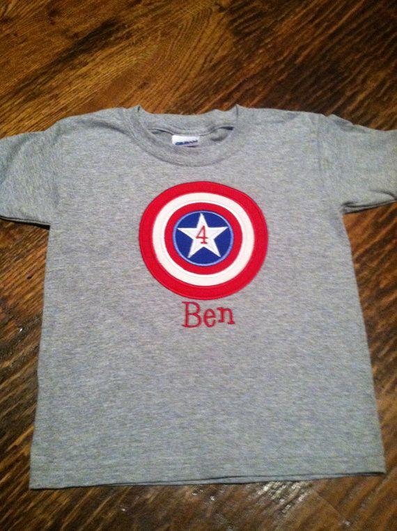 Captain America Birthday Shirt by chellebellebaby on Etsy, $23.00