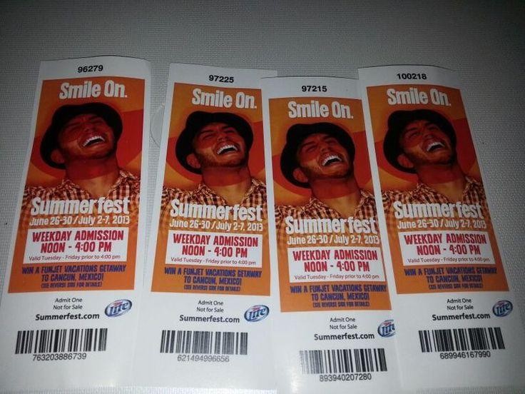 summerfest tickets 4pack