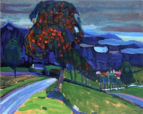 Autumn in Murnau - Wassily Kandinsky (Expressionists)