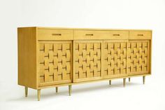 Edward Wormley Four Sliding Doors Cabinet for Dunbar ca.1953