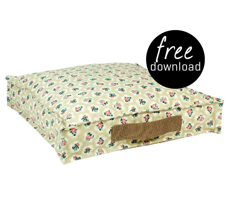 DIY - free download pillow. Oil cloth Light green, No. 870256. Stof & Stil