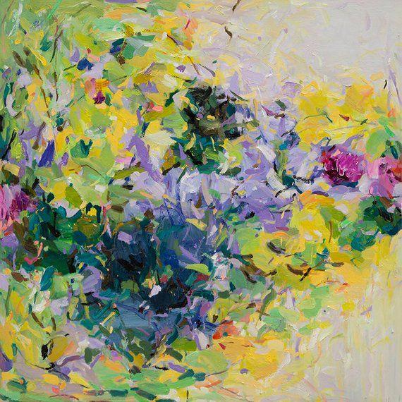Garden 10 Abstract Art  Print  Spring  Landscape  Floral Wall Art