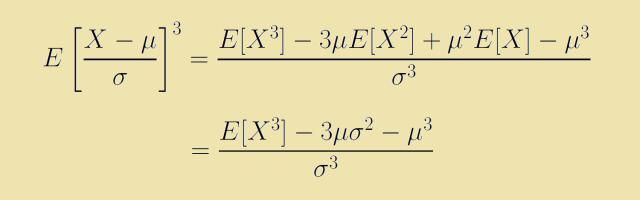 What Is the Skewness of an Exponential Distribution?: The formula for skewness involves a third moment.