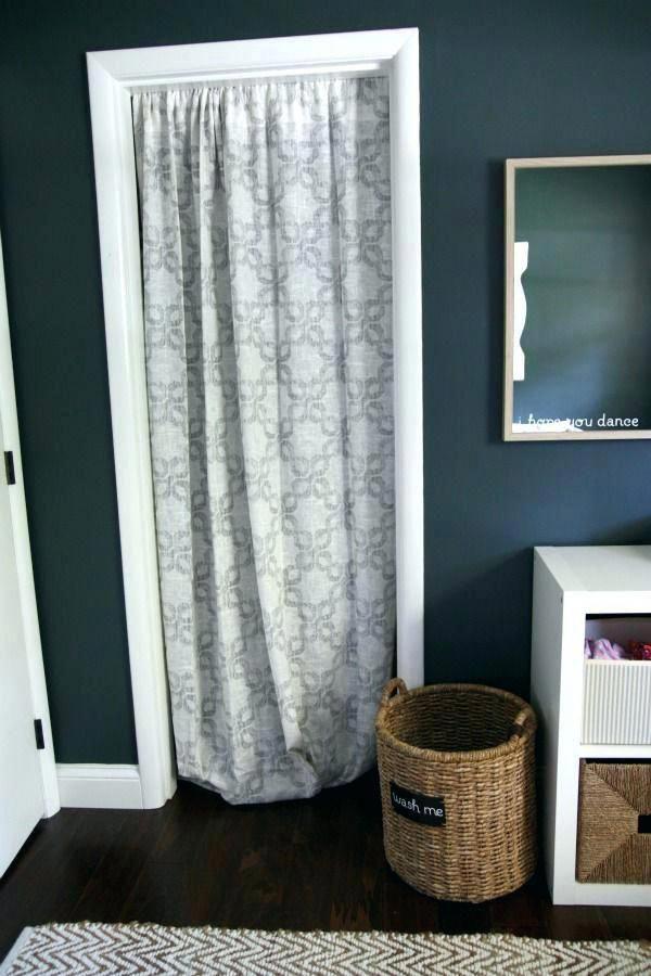 Curtains For Closet Doors, Closet Curtain Rod
