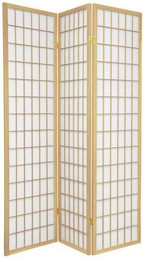 Window Pane Shoji Screen - Natural