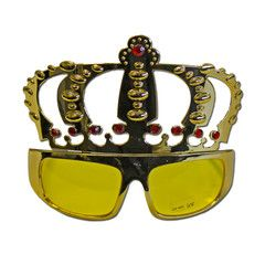 Gold Crowned Costume Glasses | Simply Party Supplies