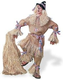 "Scarecrow Character Adult Mens Deluxe Costume / ""Well, leave it to Jacques. What an inspired use of burlap."""