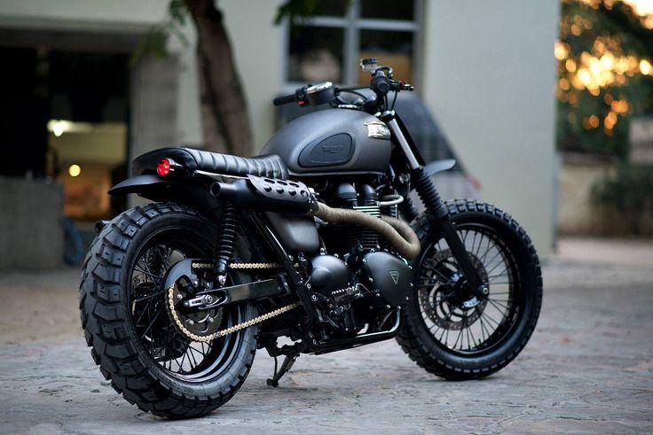 New from Rajputana: a gnarly custom Scrambler built for Triumph Motorcycles India.