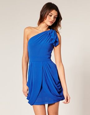 blue: Dresses Shoulderfashion, Blue Greek, Greek Dresses, Blue Dresses, Cute Dresses, Bridesmaid Dresses, Dresses Bottoms, Greek Chiffon, Chiffon Dresses
