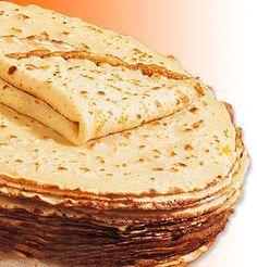 Receta de Crepes para 8 crepes: - 250gr de harina - 4 huevos - 1 sobre de azúcar (de café) - 1 pellizco de sal - 1/2 litro de leche entera - 50gr de mantequilla