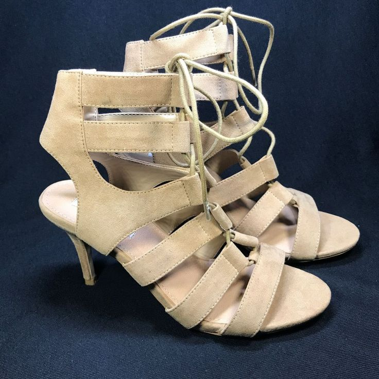 Steve Madden Womens Lace Up Strappy Caged Pumps Heel Sandals SIZE 6 | eBay