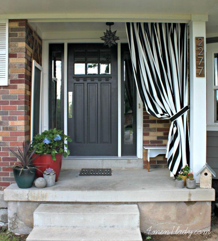 Die besten 25+ Haustür vorhänge Ideen auf Pinterest Sackleinen - gardinen f rs badezimmer