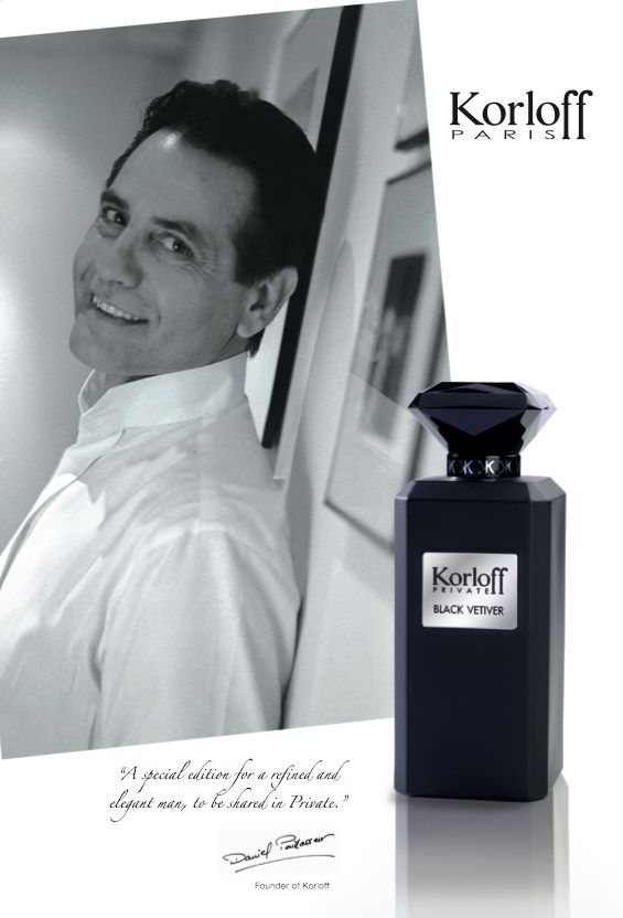 Korloff Private Black Vetiver, Eau de toilette for men..
