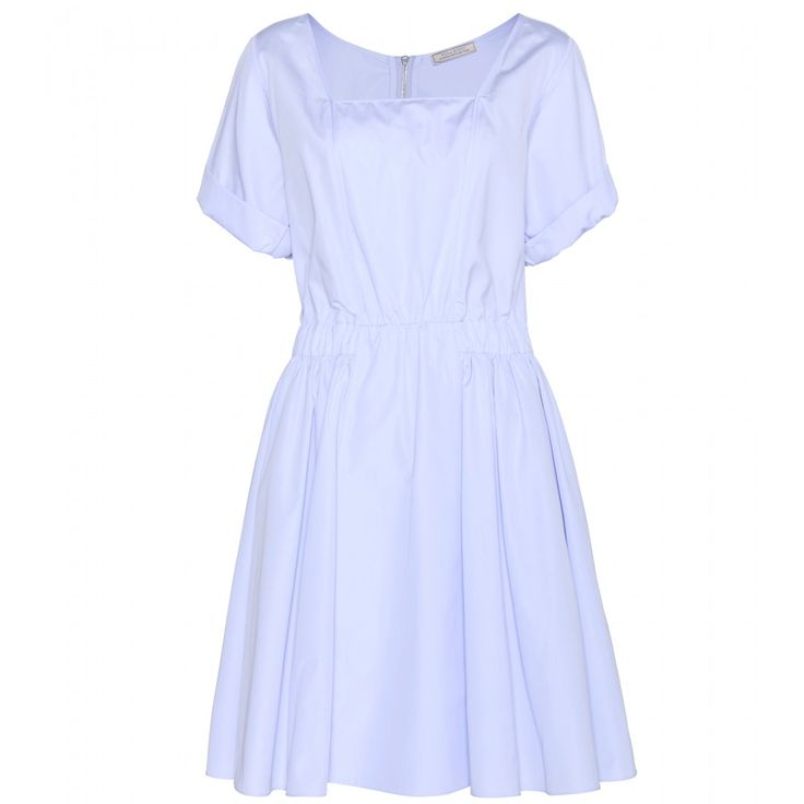 Nina Ricci - Cotton dress - Nina Ricci lives up to the label's overtly feminine aesthetic. This cotton dress features a square neckline and a nipped in waistband to emphasise the floaty skirt. Save it for summery evenings with flat sandals and a mini clutch. seen @ www.mytheresa.com