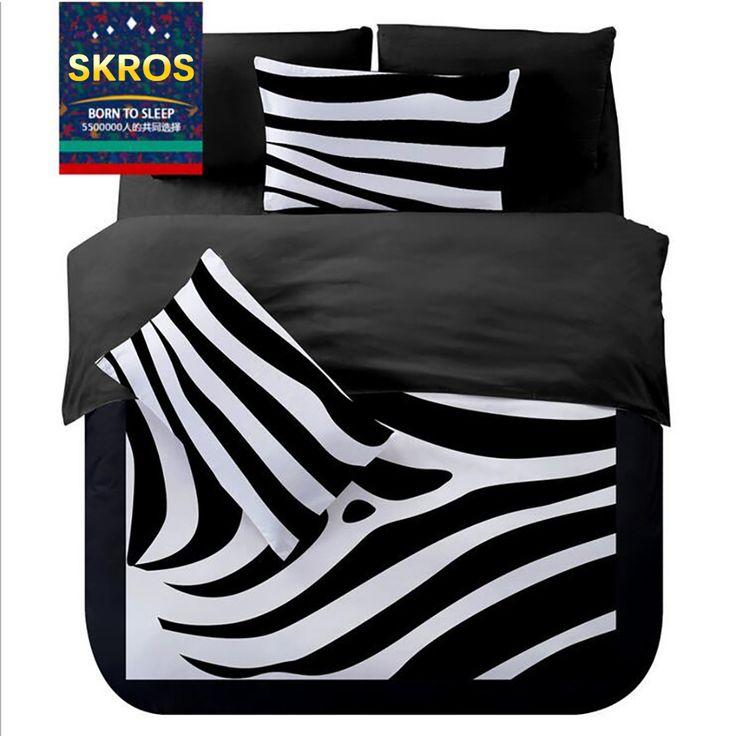 >> Click to Buy << Bedding Outlet Bedding Set Black Zebra Printed Duvet Cover Bedspread Bed Sheets #Affiliate