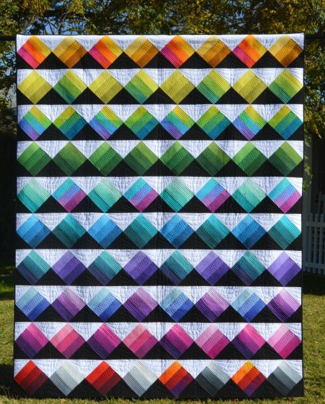 Peaks & Valleys quilt pattern by Needle in a Hayes Stack