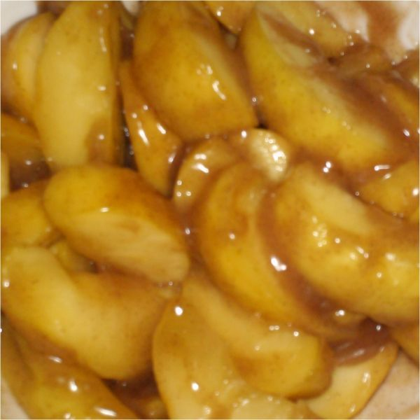 Fried Apples Recipe Desserts, Lunch and Snacks, Side Dishes with apple juice, golden delicious apples, corn starch, cinnamon, allspice, sugar