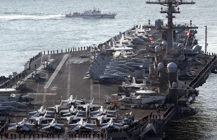 USS Carl Vinson, el portaaviones que Donald Trump envió hacia la península coreana @alvarodabril