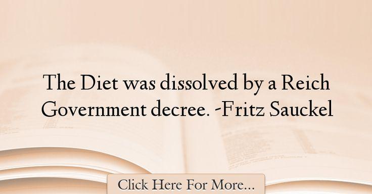 Fritz Sauckel Quotes About Diet - 14903