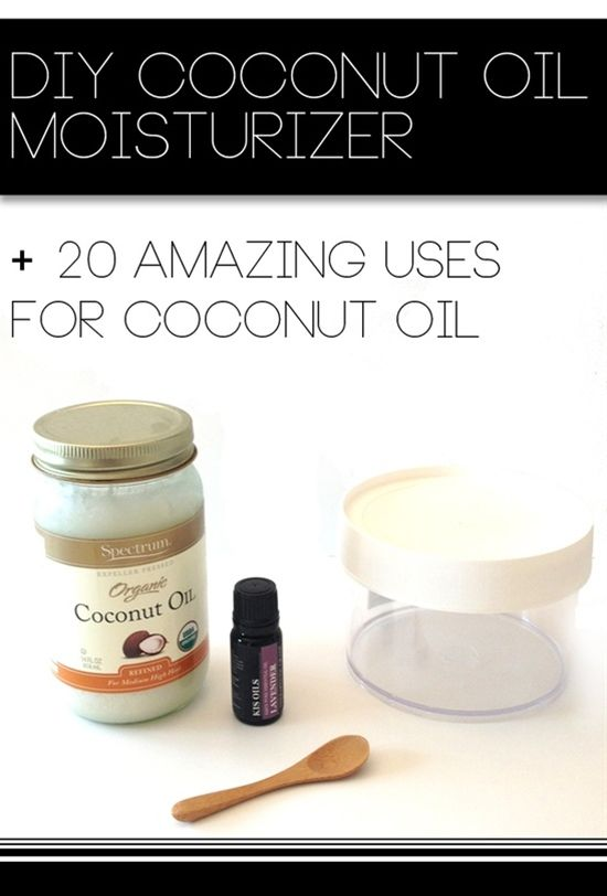 DIY Coconut Oil Moisturizer + 20 Amazing Uses for Coconut Oil. #DIY Beauty Recipes