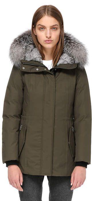 Mackage Danika X Semi Fitted Winter Down Coat With Fur