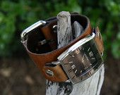 Not Your Father's Leather Watch for Men. $62.00, via Etsy.