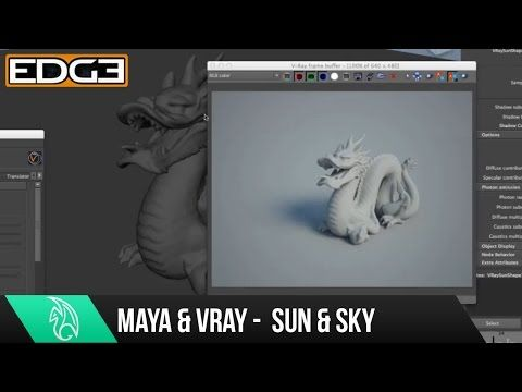 08 VRAY for Maya Rendering Tutorial Series for Beginners - Sun and Sky - YouTube