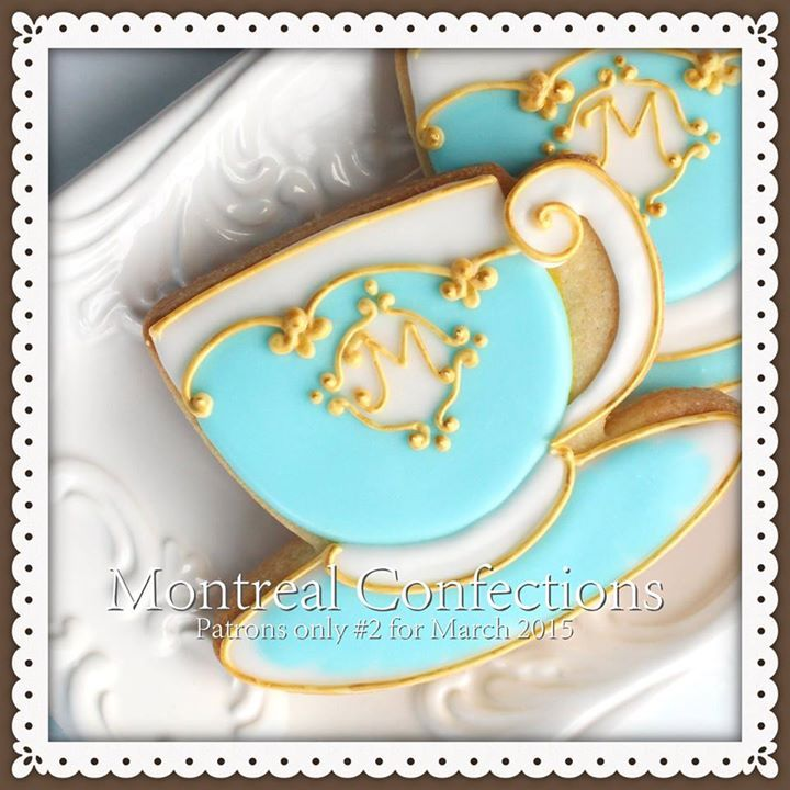 Teacup cookie // Montreal Confections