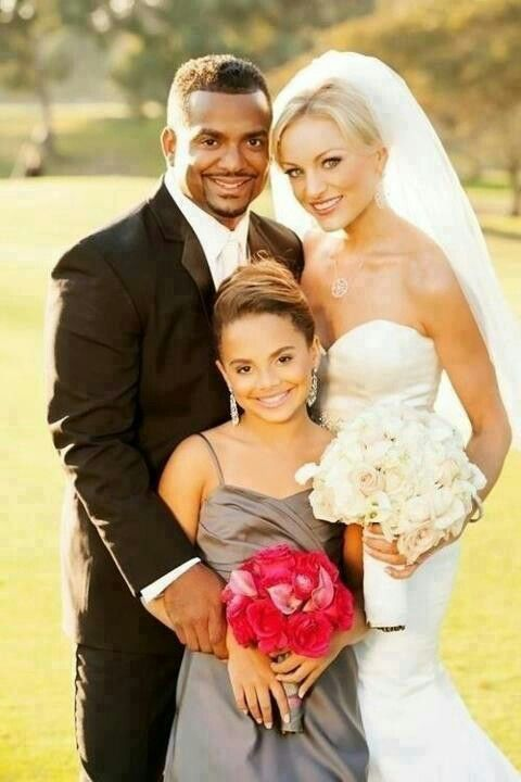alfonso ribeiro with his wife angela and his daughter