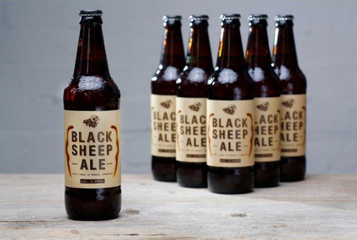 Black Sheep Ale - Label Design  #blacksheepale #blacksheep #ale #craftbeer #branding #bottle #custom #beer #packagingdesign #beerdesign #design