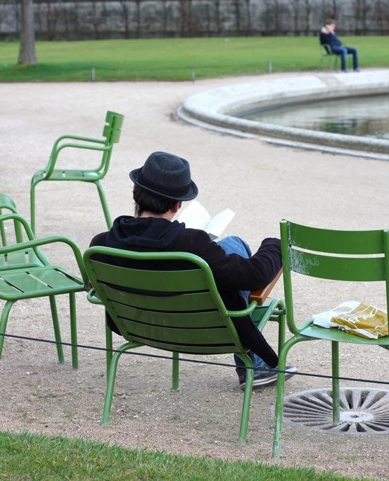 Fauteuil, Jardin du Luxembourg, Paris, France, Europe