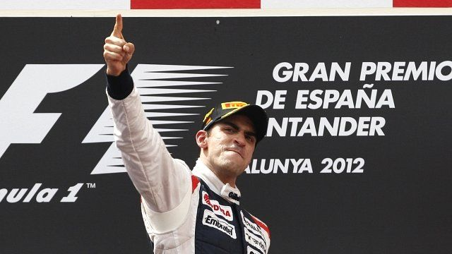 Williams's Pastor Maldonado has become the first Venezuelan in the history of the sport to win a grand prix. Congratulations to him!