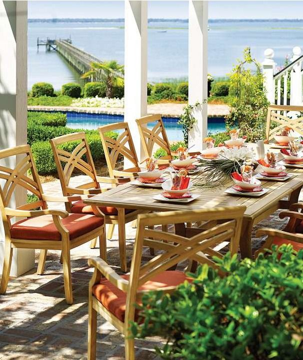 This summer, create the ultimate outdoor dining experience.: Outdoor Dining, Idea, Outdoor Furniture, Halifax Dining, Patio Furniture, Outdoor Patio, Gloster Furniture, Dining Collection, Modern Patio