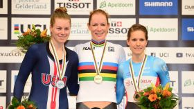 Canada has returned to the podium of a UCI Track Cycling World Championships after missing out last year, and it's...