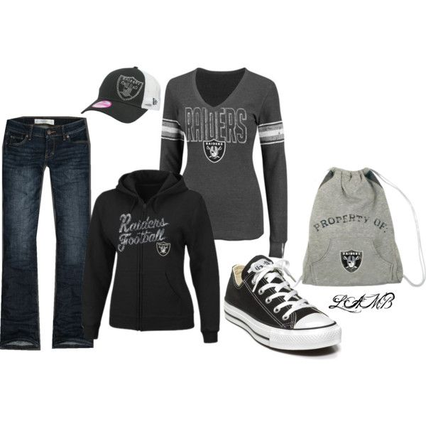 """Raider Girl Game Day!"" by leeannalamb on Polyvore"