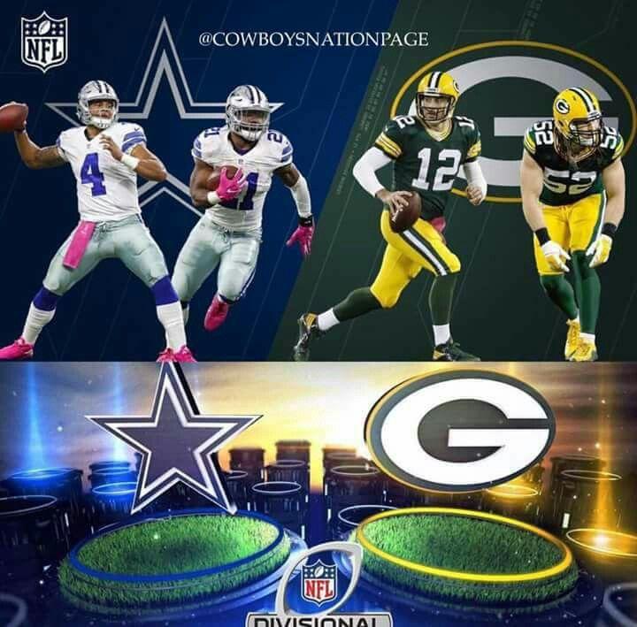 Mark your Calendars  Green Bay Packers Vs Dallas Cowboys Jan 15, 2017