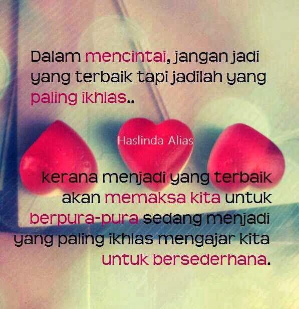Cinta dua insan... Jadilah yang ikhlas daripada yang terbaik...