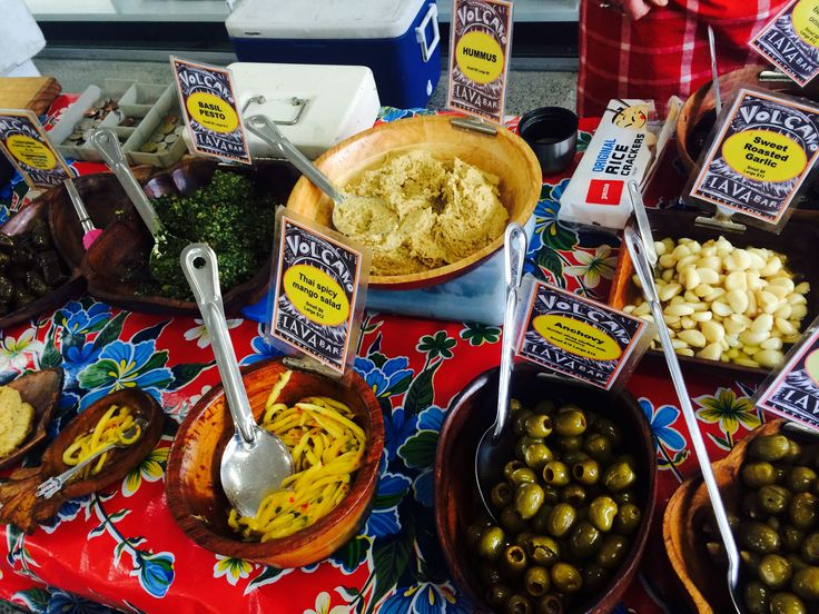 Volcano Olives at the market every week!