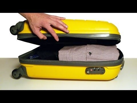 How to Pack a Suitcase Efficiently - Top Travel & Life Hacks - YouTube