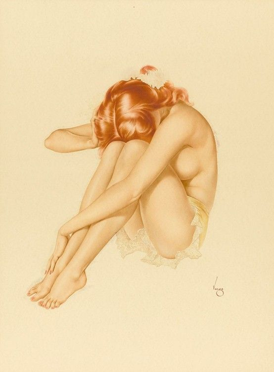 Untitled, published in PLAYBOY, Alberto Vargas, date unknown. From the time Esquire
