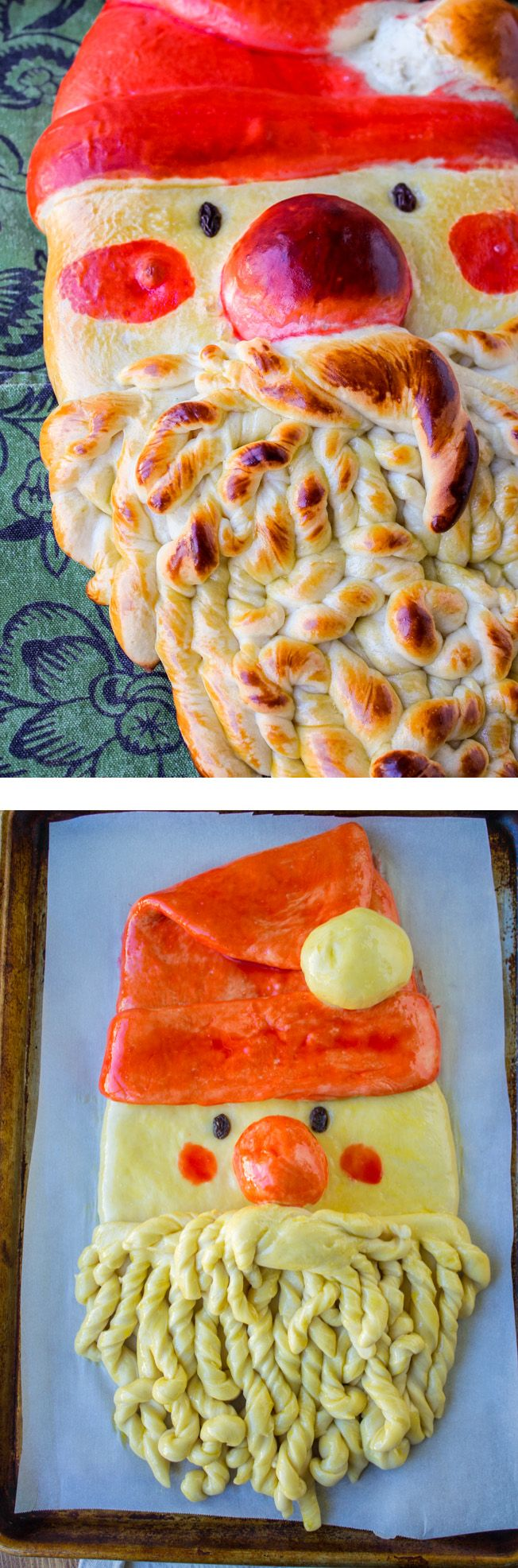 How to Make Golden Santa Bread (Tutorial) - The Food Charlatan // It's easier than it looks! Perfect breakfast for Christmas morning.