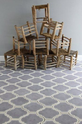 Marrakesh design, Lantern - olive/cream Handmade tiles can be colour coordianated and customized re. shape, texture, pattern, etc. by ceramic design studios